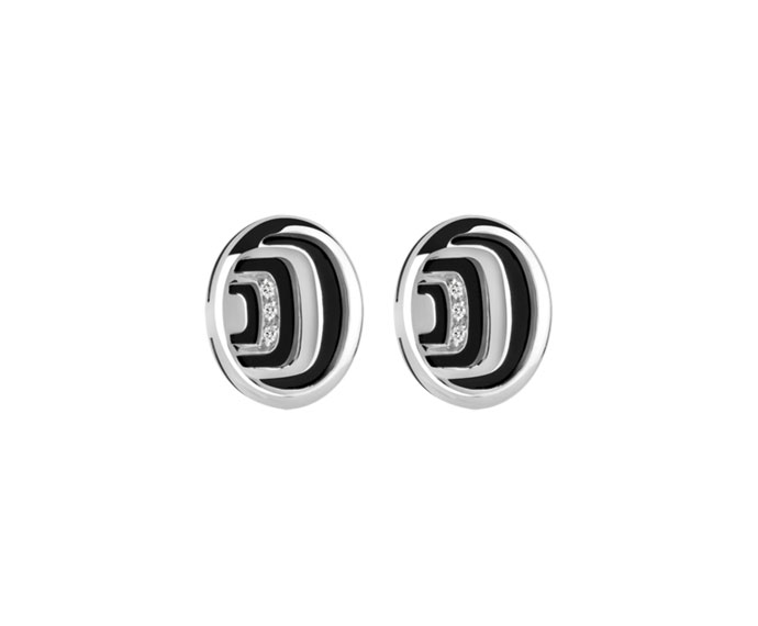 DAMIANI - Silver with diamonds earrings