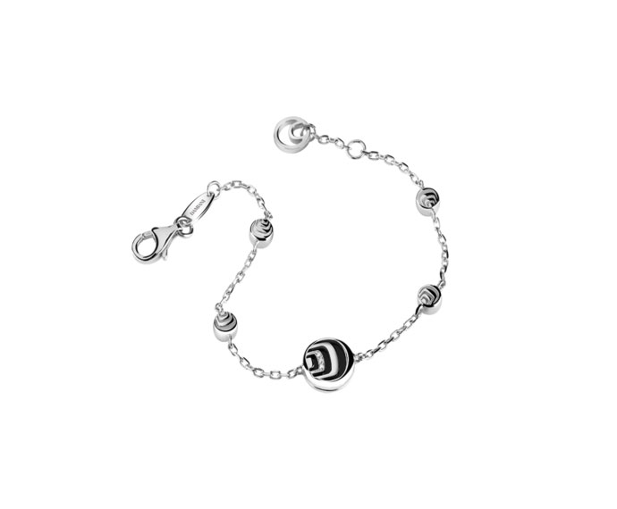 - Silver and diamonds bracelet