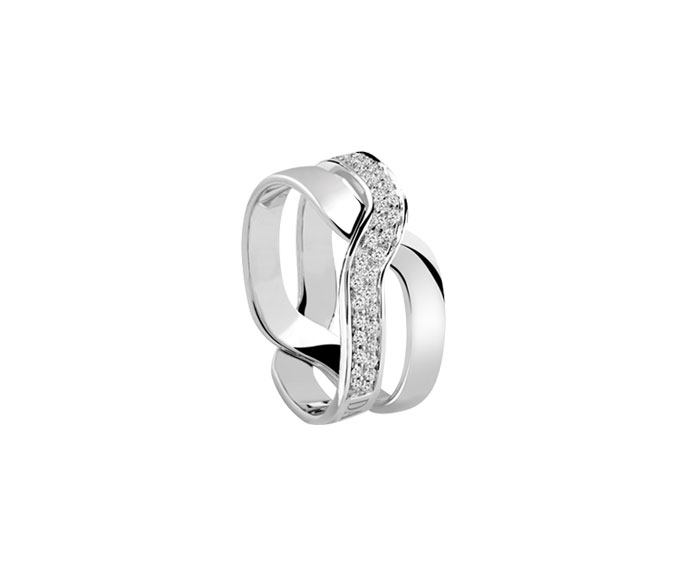 DAMIANI - White gold and diamonds ring