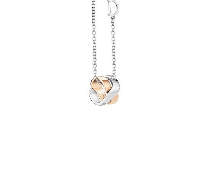 DAMIANI - White gold and pink gold necklace