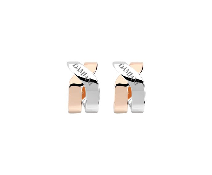 DAMIANI - White gold and pink gold earrings
