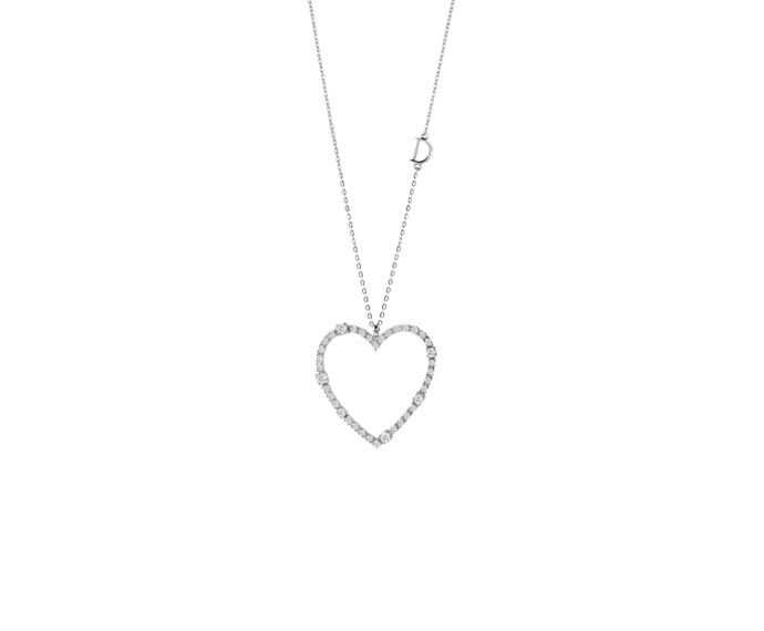Damiani - White gold and diamonds heart necklace