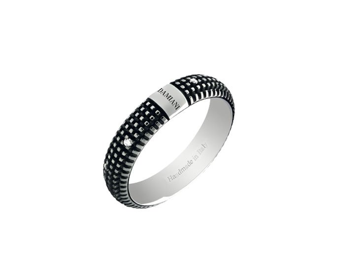 Damiani - Black gold and diamonds ring