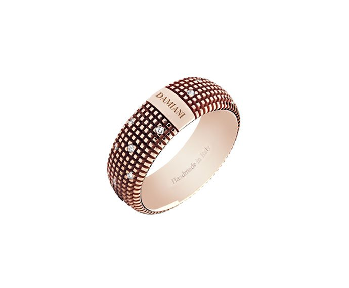DAMIANI - Anello in oro rosa con diamanti