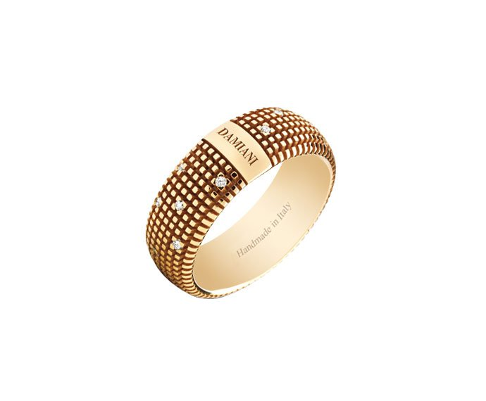 Damiani - Anello in oro giallo con diamanti