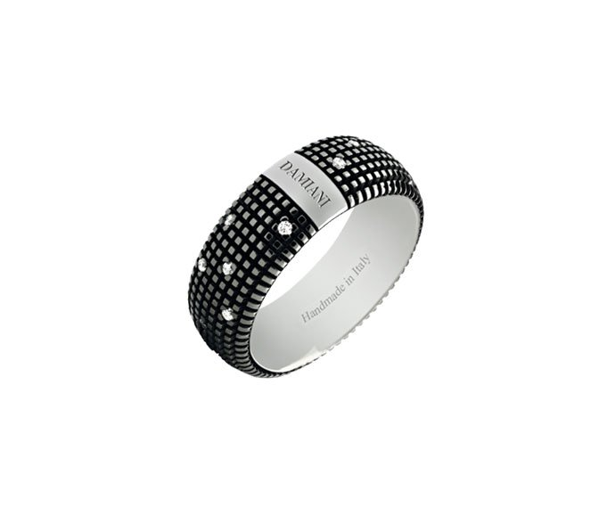 DAMIANI - Anello in oro black con diamanti
