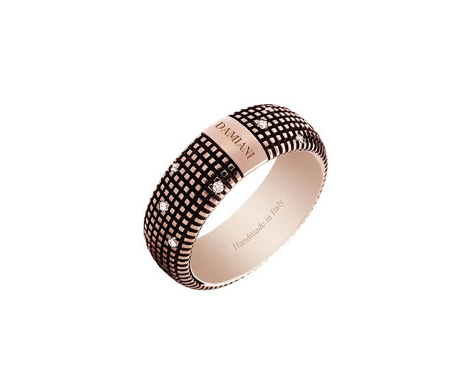 DAMIANI - Brown gold and diamonds ring