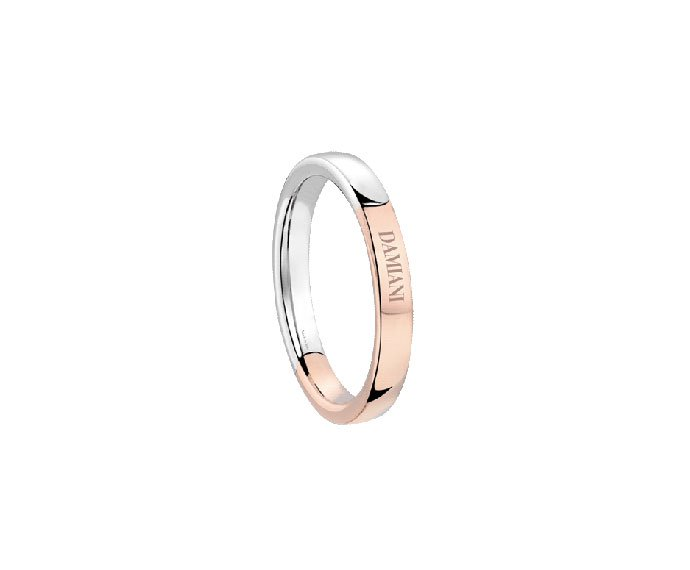 Damiani - White gold and pink gold wedding ring