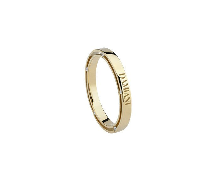 Damiani - Yellow gold with diamonds wedding ring