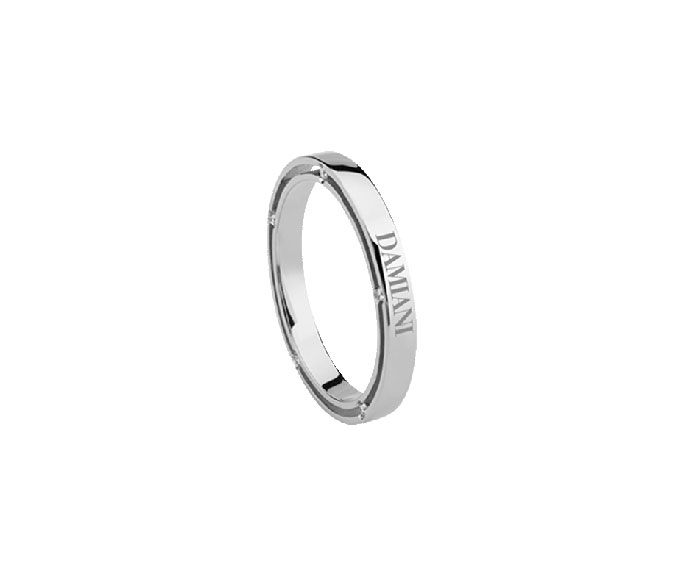 Damiani - Platinum with diamonds wedding ring