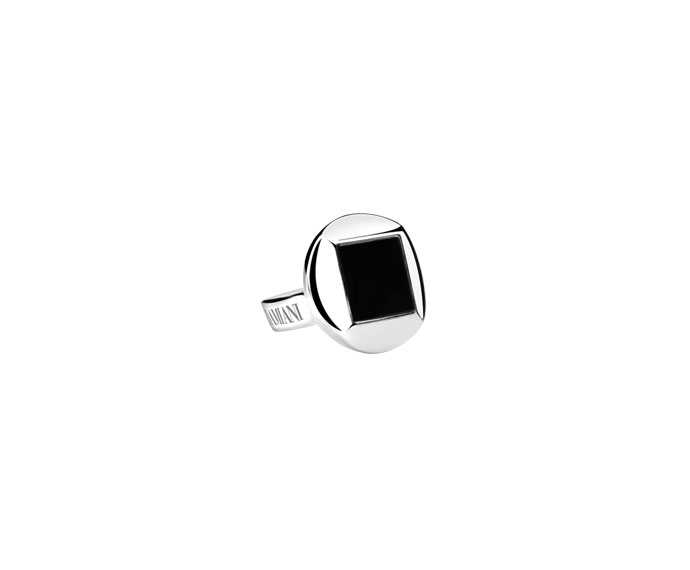 Damiani - Silver and onyx cufflinks