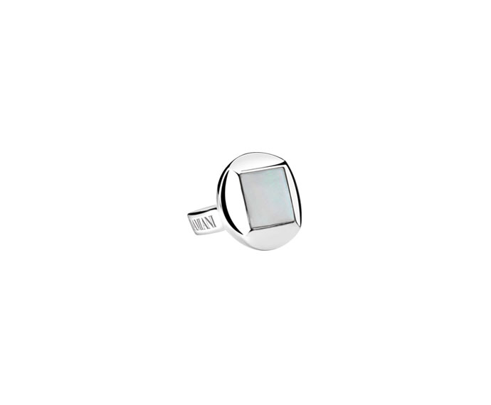 DAMIANI - Silver and mother-of-pearl cufflinks