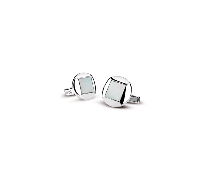DAMIANI - Silver and mother of pearl cufflinks