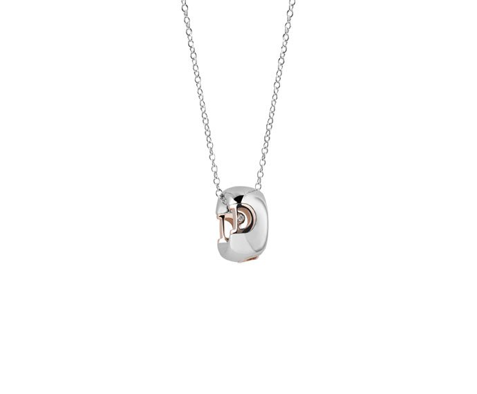 Damiani - White and pink gold with diamond necklace