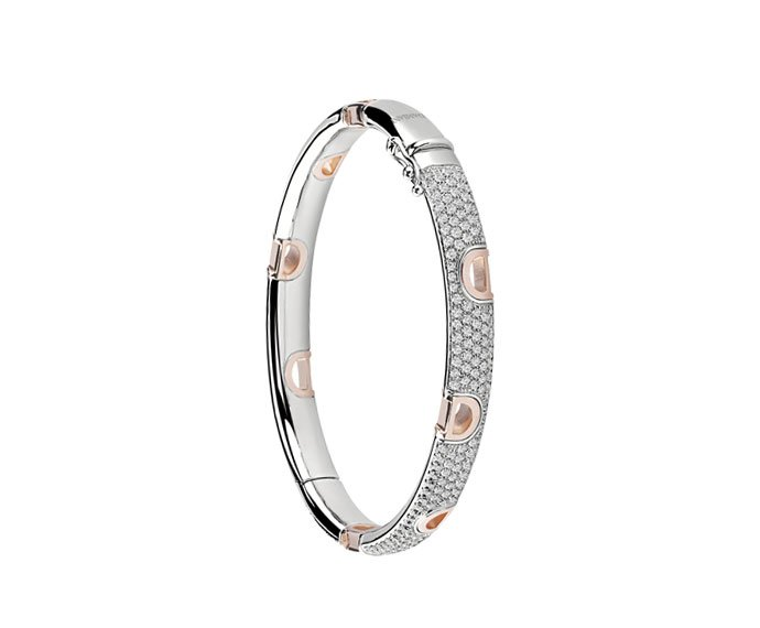 Damiani - White gold and pink gold with diamonds bracelet