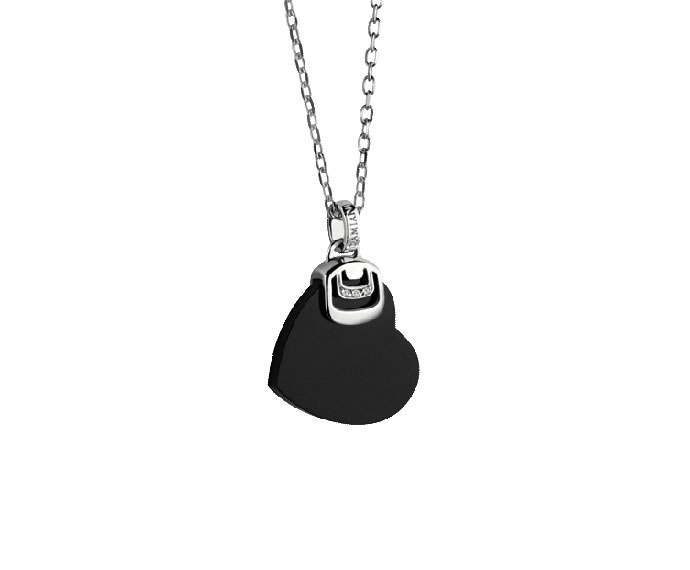 Damiani - Silver and onyx necklace