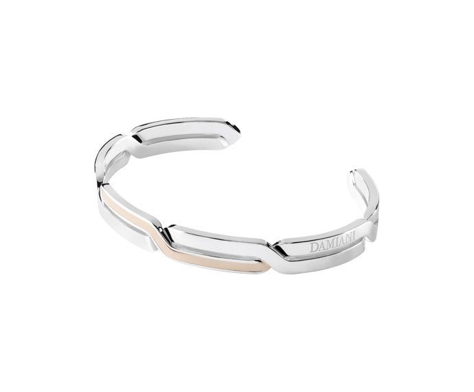 DAMIANI - Silver and pink gold bracelet