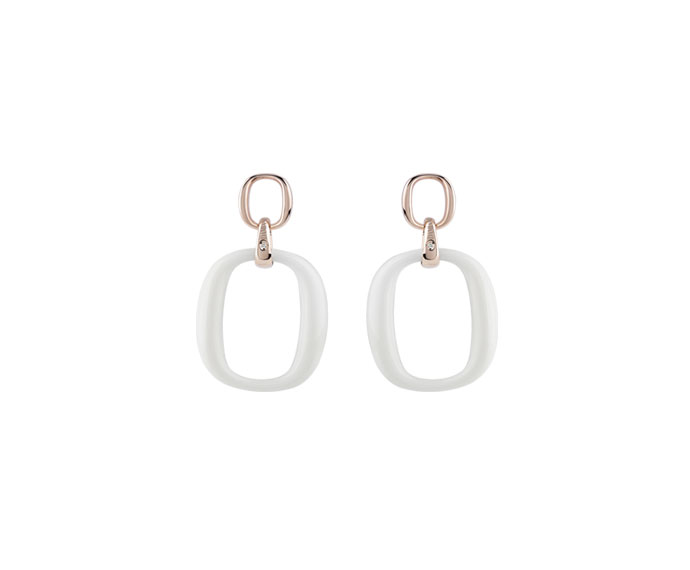 Damiani - Pink gold and agates earrings
