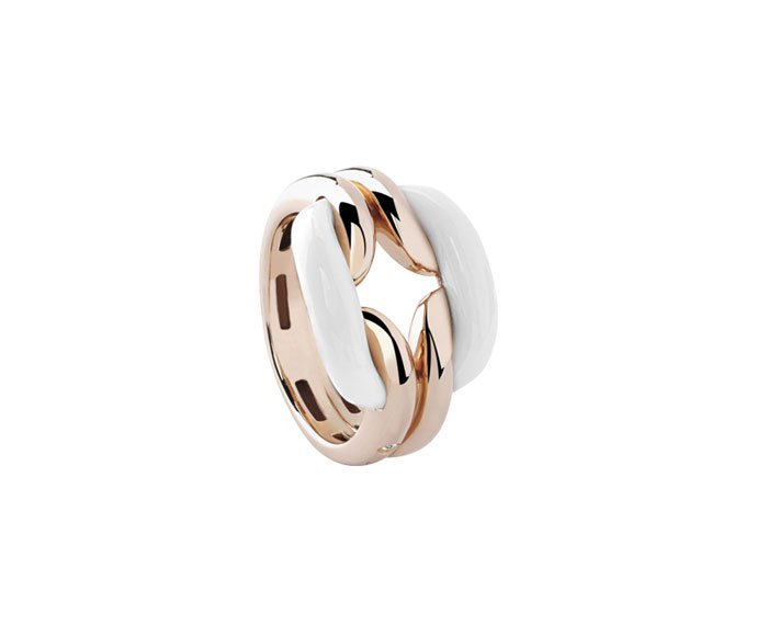 DAMIANI - Pink gold and agates