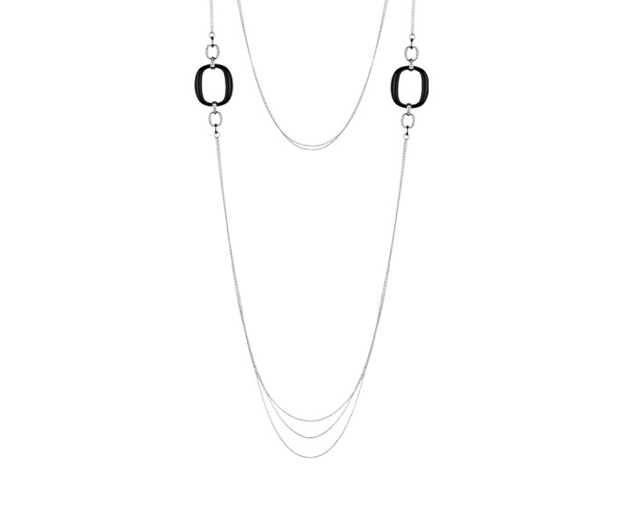 Damiani - White gold and diamonds necklace with onyx