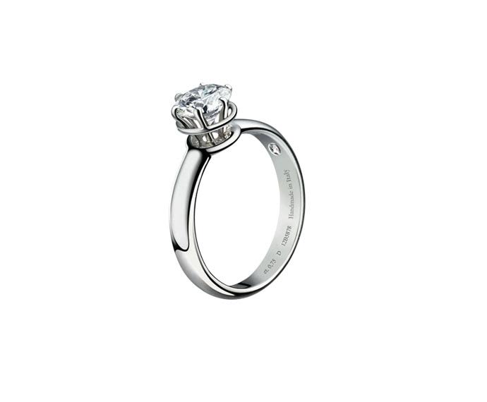 DAMIANI - White gold or platinum solitaire ring