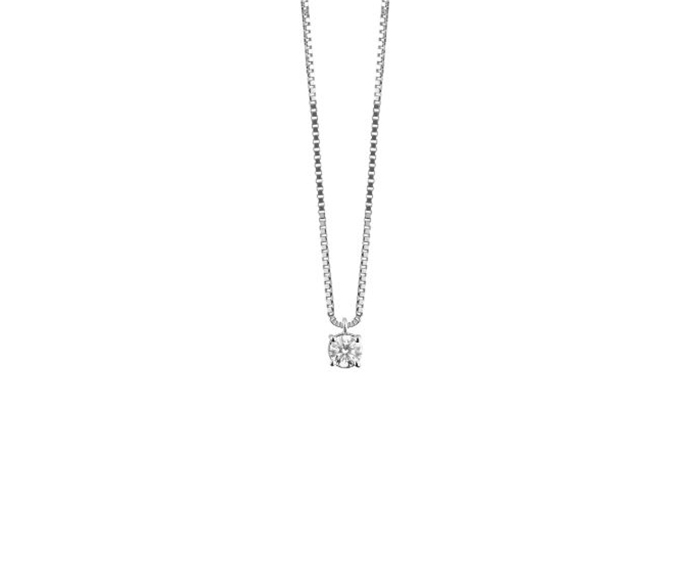 DAMIANI - White gold and diamond necklace, 0,4 carats, Colour Gh