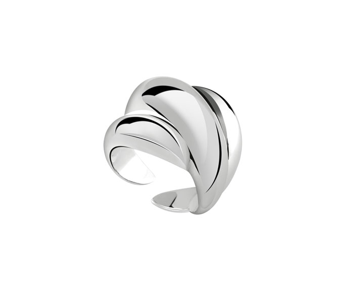 DAMIANI - Silver and diamond ring