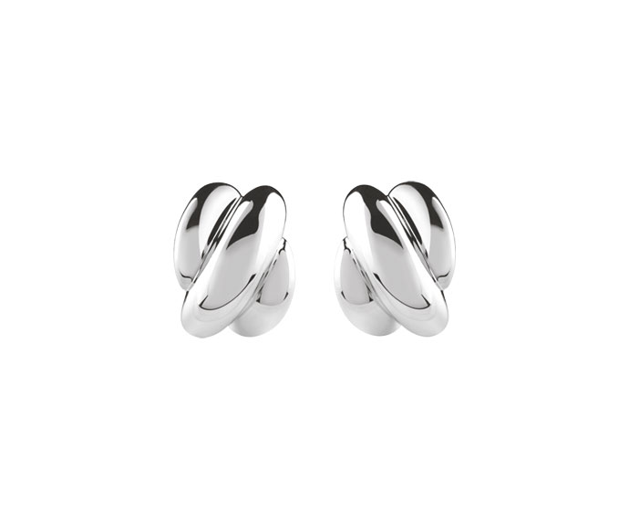 Damiani - Silver and diamond earrings