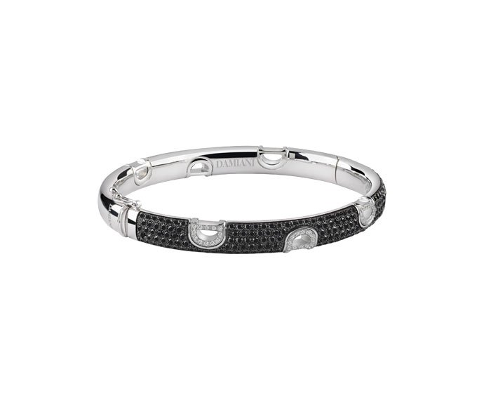 Damiani - White gold and black diamonds bracelet