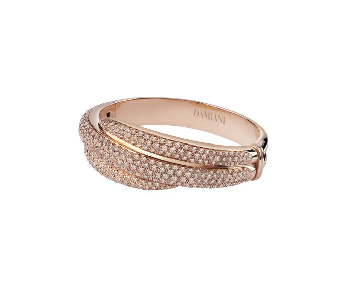 Damiani - Pink gold with brown diamonds bracelet