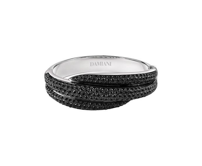 Damiani - Burnished gold and black diamonds bracelet