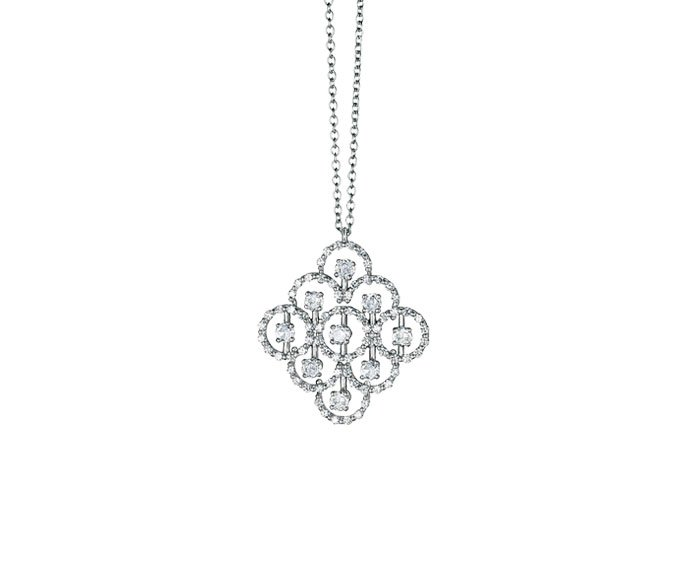 DAMIANI - White gold with diamonds necklace