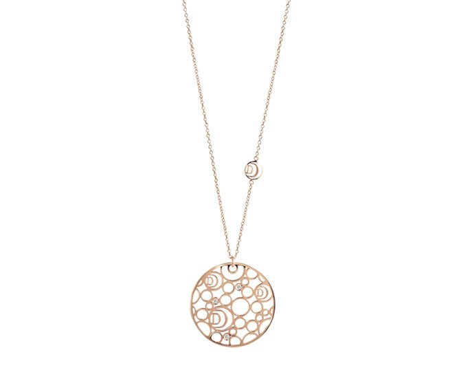 - Pink gold and diamonds necklace