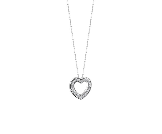 Damiani - White gold with diamonds heart necklace