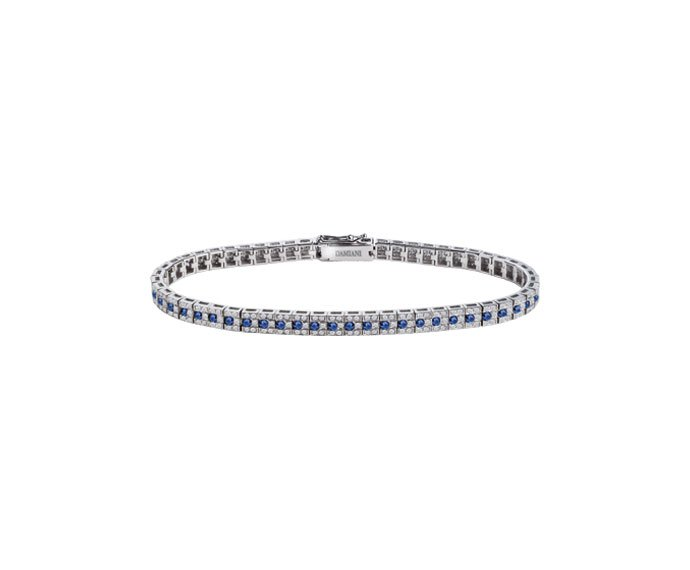 Damiani - White gold with diamonds and sapphires bracelet