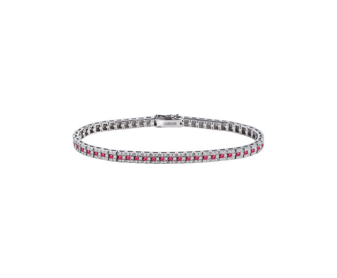 Damiani - White gold with diamonds and rubies bracelet