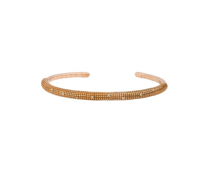 - Pink gold and diamonds bracelet