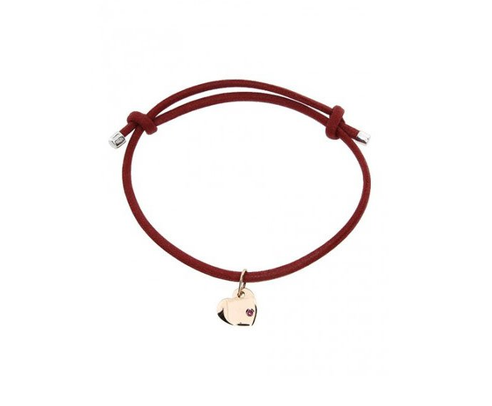 Damiani - Bracelet with heart charm and ruby