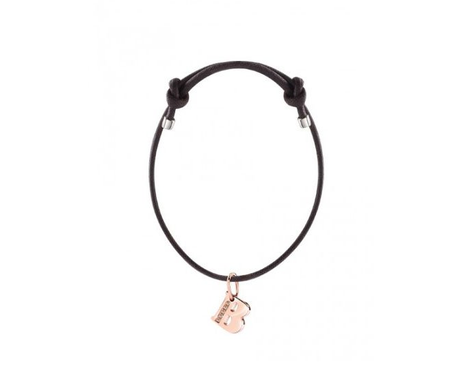 DAMIANI - Bracelet with pink gold charm, letter B