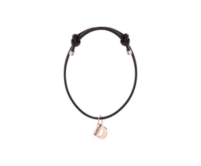 DAMIANI - Bracelet with pink gold charm, letter D