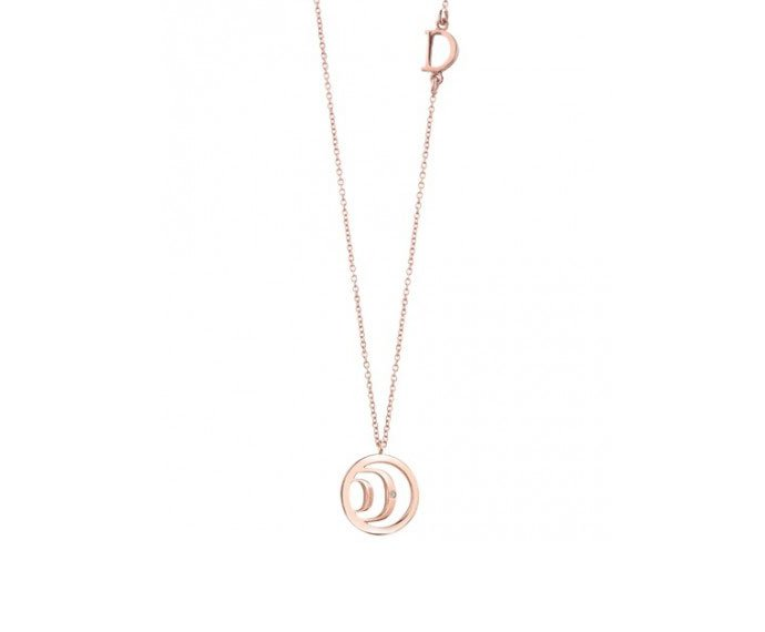 DAMIANI - Pink gold and diamond necklace