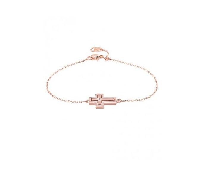 Damiani - Pink gold with diamonds bracelet