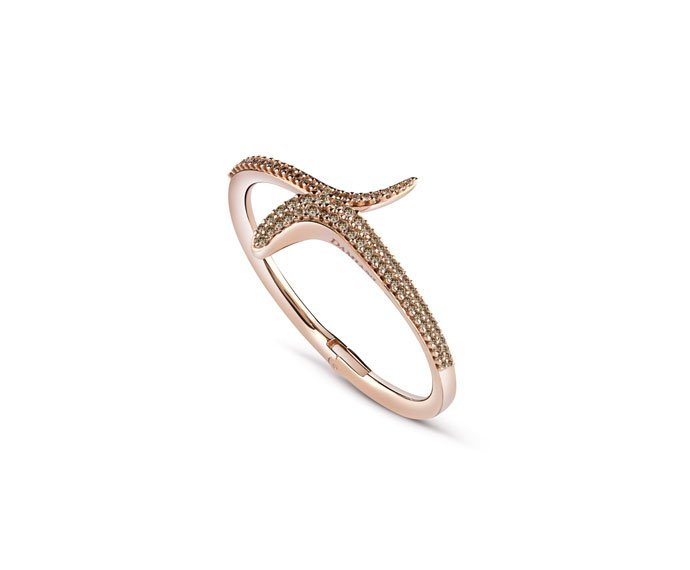 Damiani - Bracciale in oro rosa con diamanti brown