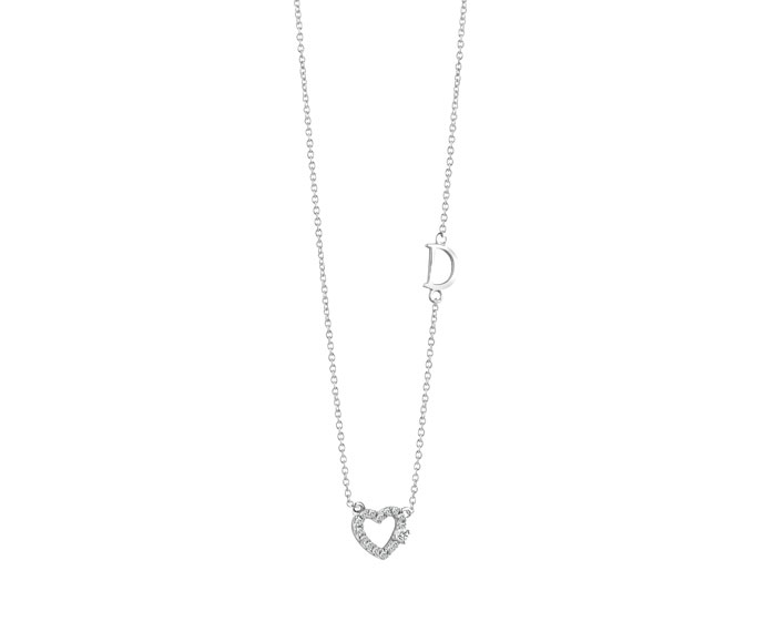 Damiani - White gold and diamonds heart pendant