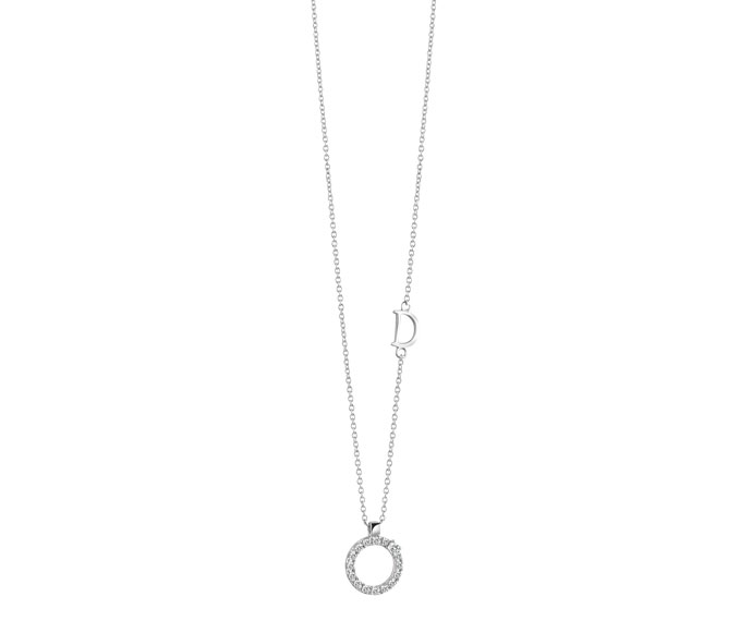 Damiani - White gold and diamonds circle pendant