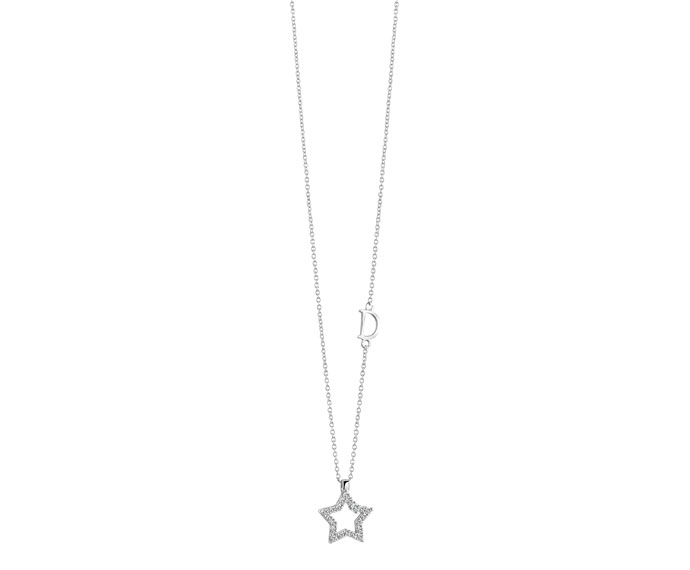 Damiani - White gold and diamonds star pendant