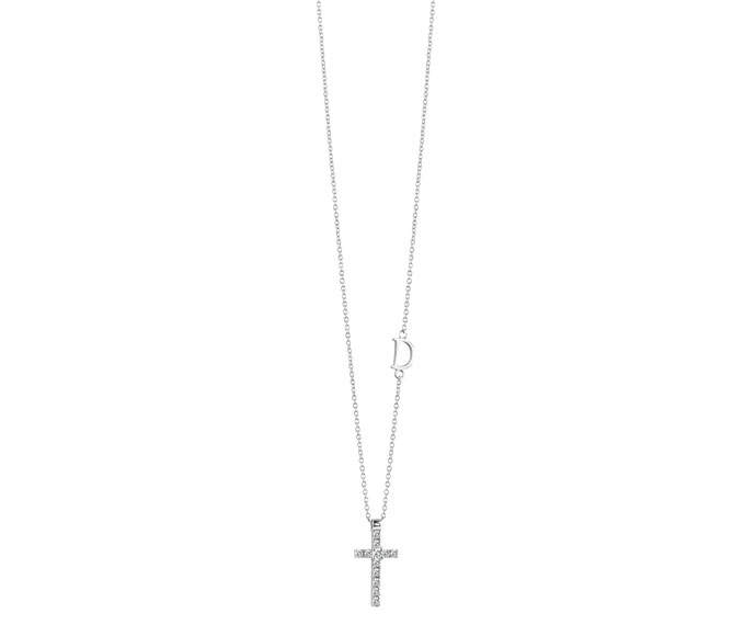 DAMIANI - White gold and diamonds cross pendant