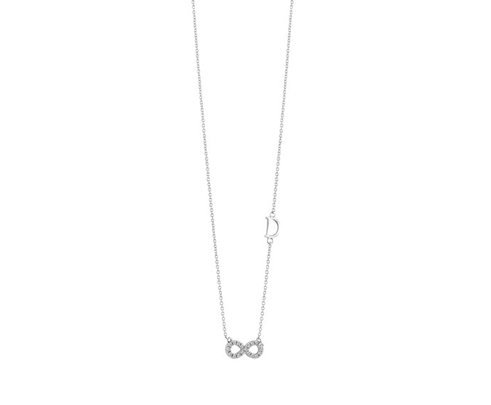 DAMIANI - White gold and diamonds infinite pendant
