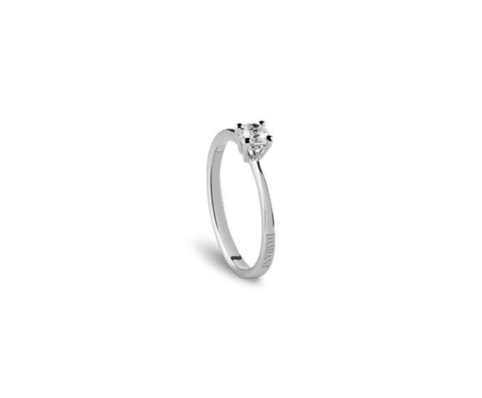 DAMIANI - White gold engagement ring, 0,20 carats, Colour G, Clarity VS
