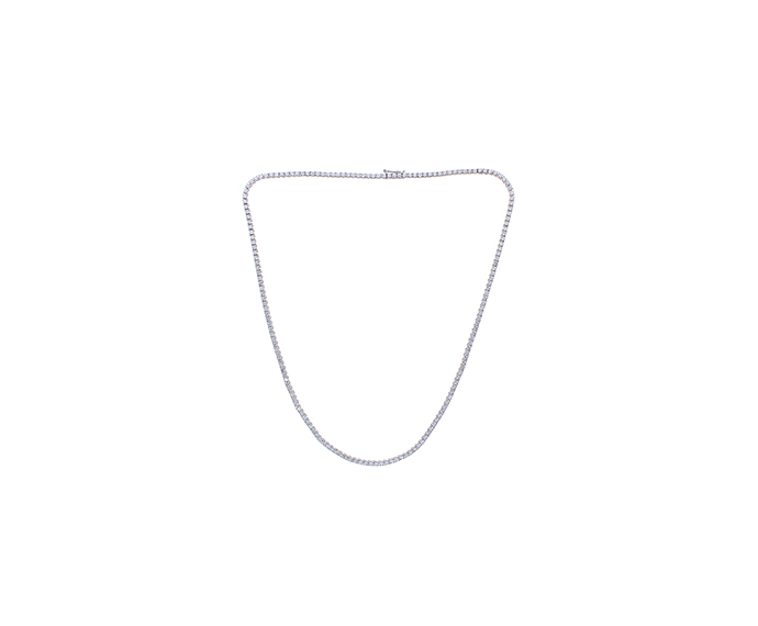 DAMIANI - White gold and diamonds tennis necklace. 7,120 carats